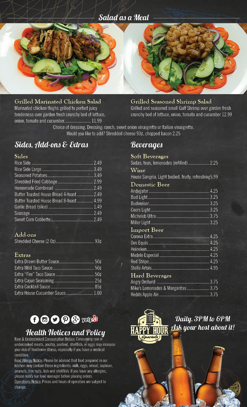 Gumbo Girl Menu OCT 20174